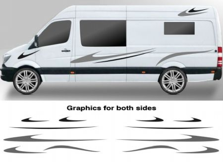 (No.784) CAMPER VAN GRAPHICS MOTORHOME STICKERS GRAPHICS DECALS CARAVAN DECALS